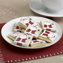 Let It Snow - Father Christmas Chocolate Squares (20)